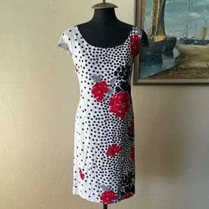 Cartise floral polkadot pattern dress size 16